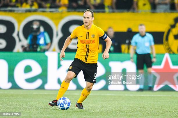 Steve von Bergen of Bern during the Champions League match between Young Boys Berne and Manchester United at Stade de Suisse Wankdorf on September 19...