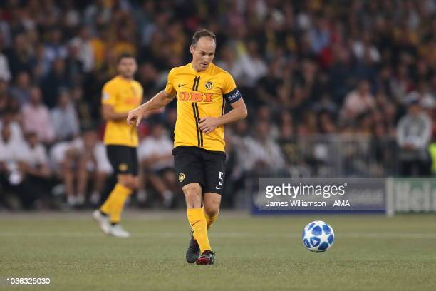 Steve von Bergen of BSC Young Boys during the Group H match of the UEFA Champions League between BSC Young Boys and Manchester United at Stade de...