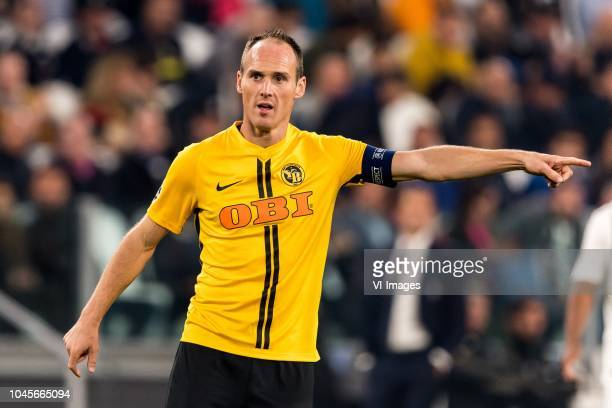 Steve von Bergen of BSC Young Boys during the UEFA Champions League group H match between Juventus FC and Young Boys at the Allianz Arena on October...