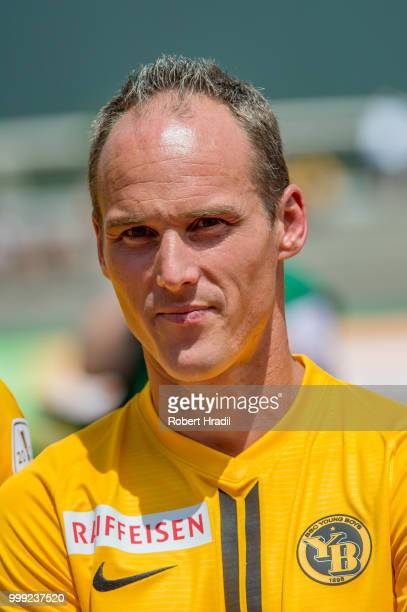 Steve Von Bergen of BSC Young Boys looks on during the Uhrencup 2018 at the Neufeld stadium on July 14 2018 in Bern Switzerland