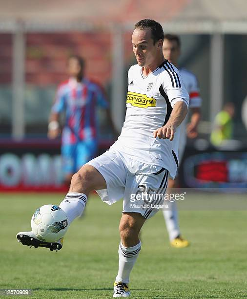 Steve Von Bergen of Cesena during the Serie A match between Catania Calcio and AC Cesena at Stadio Angelo Massimino on September 18 2011 in Catania...