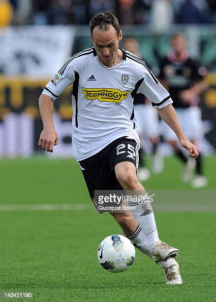 Steve Von Bergen of Cesena in action during the Serie A match between AC Cesena and US Citta di Palermo at Dino Manuzzi Stadium on April 22 2012 in...
