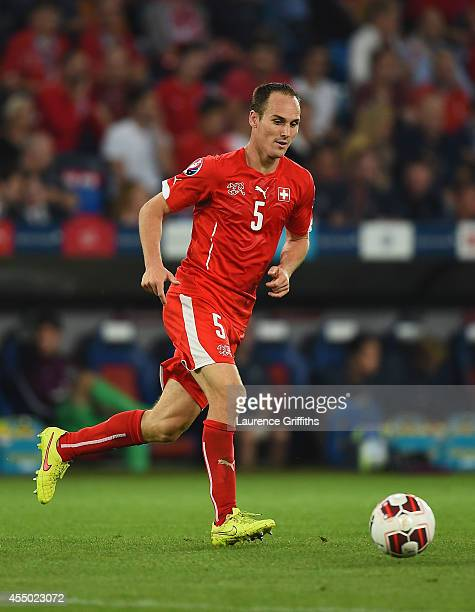 Steve Von Bergen of Switzerland in action during the UEFA EURO 2016 Qualifier match between Switzerland and England on September 8 2014 in Basel...