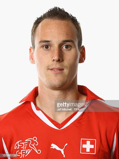 Steve Von Bergen of Switzerland poses during the official Fifa World Cup 2010 portrait session on June 11 2010 in Johannesburg South Africa