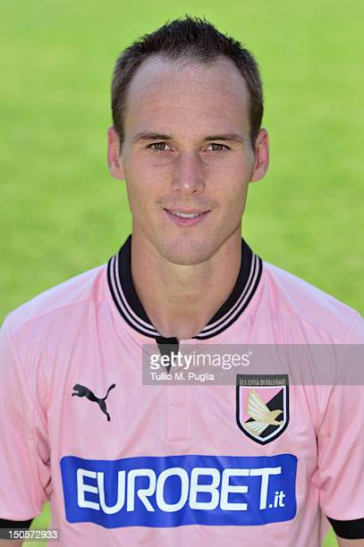 Steve Von Bergen poses for the team's official headshot during his presentation as new player of US Citta di Palermo at Carmelo Onorato Sports Center...