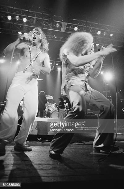 Steve Walsh and Robby Steinhardt performing with American rock group Kansas USA June 1978
