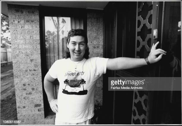 Steve Warren youth worker with the Mt Druitt Youth Center seen here at his home at 8 Eudon St Doonside March 22 1987
