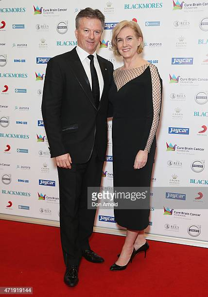 Steve Waugh and Lynette Waugh attend the Cure Brain Cancer Foundation 1930s Hollywood Glamour Ball at the Hordern Pavillion on May 2, 2015 in Sydney,...