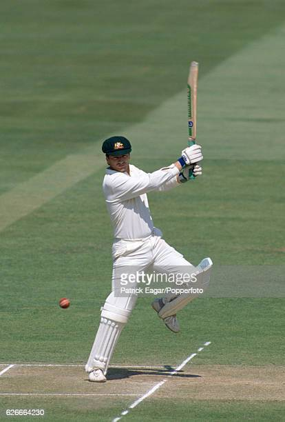 Steve Waugh batting for Australia during his innings of 152 not out in the 2nd Test match between England and Australia at Lord's Cricket Ground...