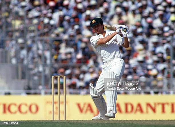 Steve Waugh batting for Australia during the World Cup Final between Australia and England at Eden Gardens, Calcutta , India, 8th November 1987.
