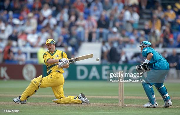 Steve Waugh batting for Australia during the World Cup group match between Australia and New Zealand at Sophia Gardens Cardiff 20th May 1999 The...