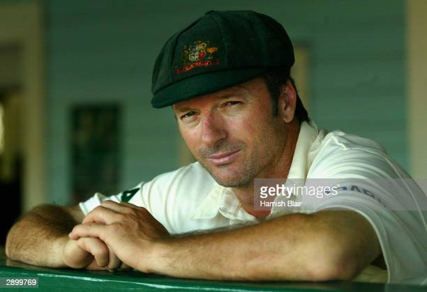 Steve Waugh, captain of Australia who will play a world record 157th Test Match on Thursday looks on at the Everest Cricket Club in Georgetown,...
