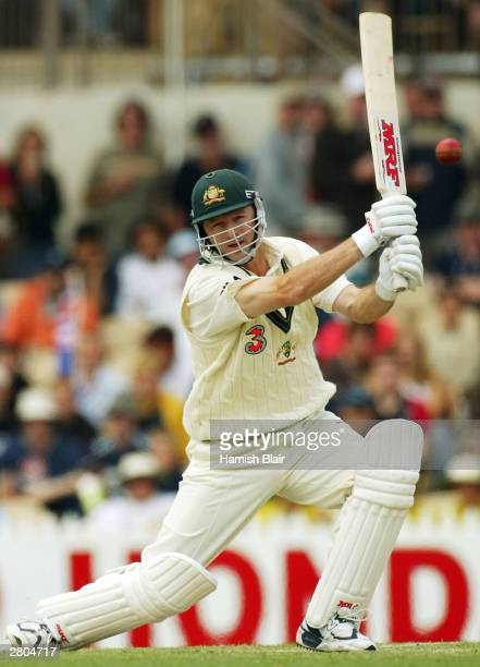 Steve Waugh of Australia in actiob during the 2nd Test between Australia and India at the Adelaide Oval on December 12 2003 in Adelaide Australia