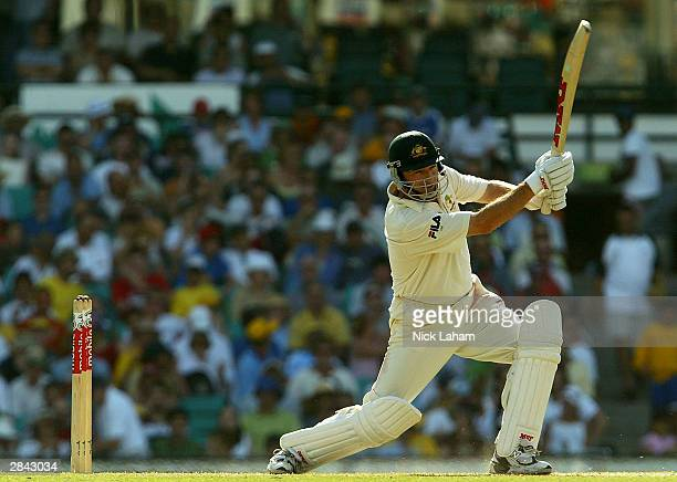Steve Waugh of Australia in action during day three of the fourth Test between Australia and India at the SCG on January 4 2004 in Sydney Australia