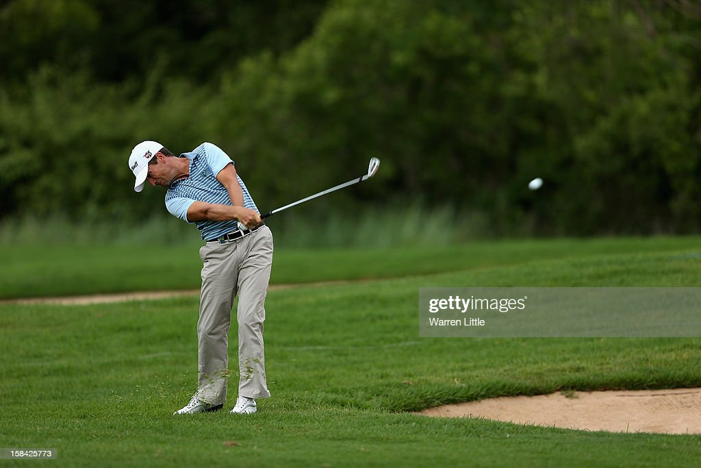 Steve Webster of England in actrion during the final round of the Alfred Dunhill Championship at Leopard Creek Country Golf Club on December 16, 2012 in Malelane, South Africa.