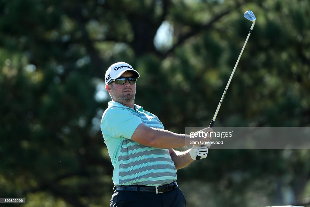 Steve Wheatcroft plays his shot from the 13th tee during the First Round of the Sanderson Farms Championship at the Country Club of Jackson on October 26, 2017 in Jackson, Mississippi.