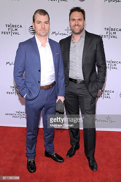 Steve White and Drew Ryan of ESPN at 30 For 30 This Magic Moment Premiere 2016 Tribeca Film Festival at SVA Theatre on April 14 2016 in New York City
