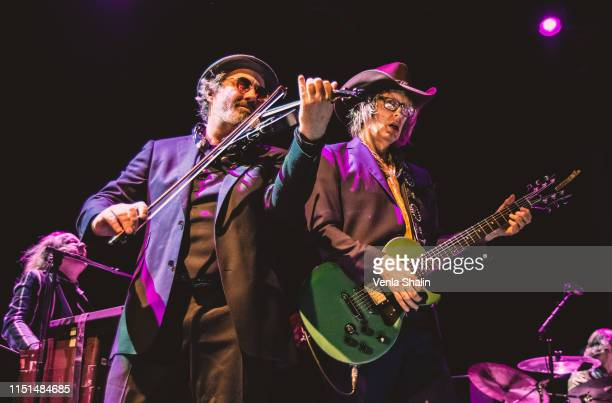 Steve Wickham and Mike Scott of The Waterboys perform at the Roundhouse on May 24 2019 in London England