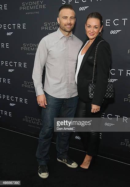 Steve Willis and Michelle Bridges arrive ahead of the Australian premiere of the latest James Bond film 'SPECTRE' on November 4 2015 in Sydney...