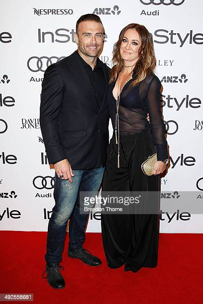 Steve Willis and Michelle Bridges arrives at the Instyle and Audi Women of Style Awards on May 21 2014 in Sydney Australia