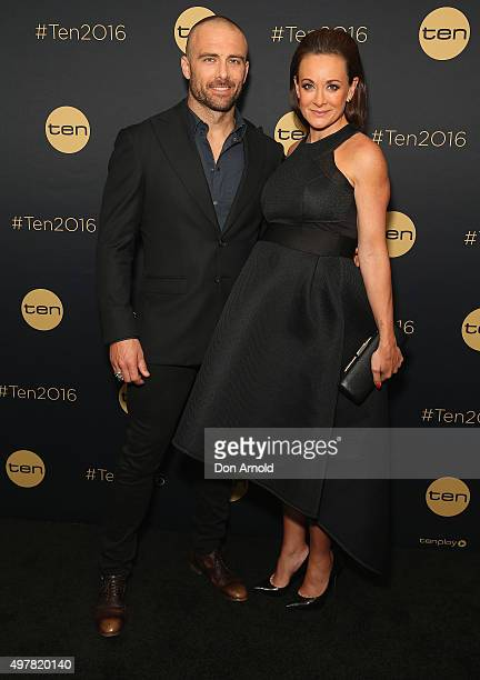 Steve Willis and Michelle Bridges pose at The Star during the Network 10 Content Plan 2016 event on November 19 2015 in Sydney Australia