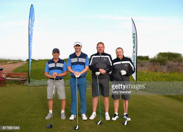 Steve Willis Captain of Richmond Golf Club and Bradley Rowntree of Richmond Golf Club pose with Paul McLean of Bowood Golf and Country Club and Jason...