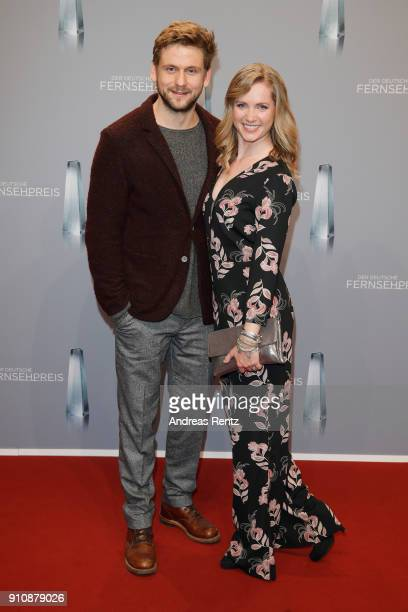 Steve Windolf and Cornelia Groeschel attend the German Television Award at Palladium on January 26 2018 in Cologne Germany
