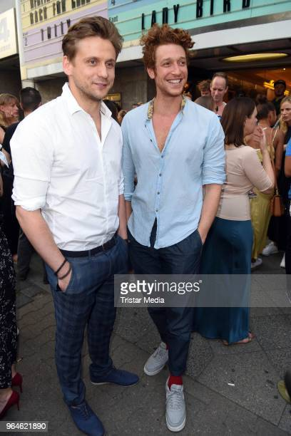Steve Windolf and Daniel Donskoy attend the 'Back for Good' premiere on May 31 2018 in Berlin Germany