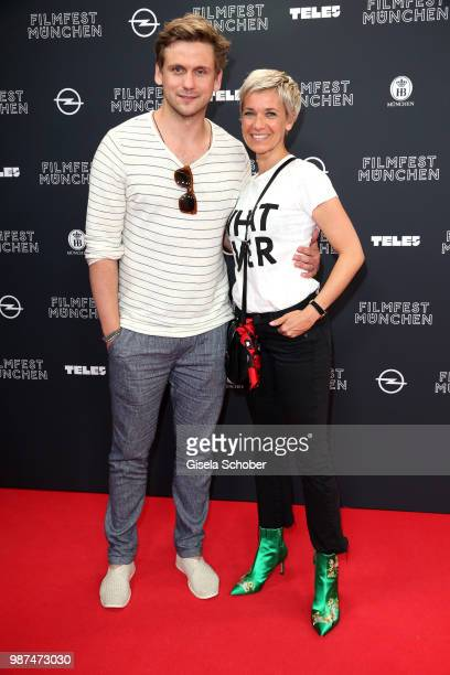 Steve Windolf and his girlfriend Kerstin Landsmann attend the premiere of the first episode of the crimeseries 'Parfum' as part of the Munich Film...