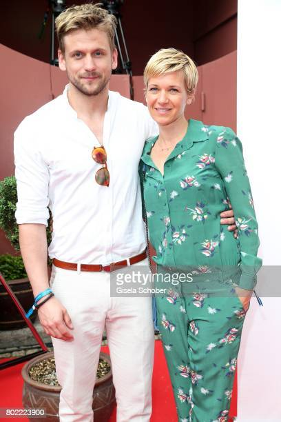 Steve Windolf and his girlfriend Kerstin Landsmann during the Bavaria Film reception during the Munich Film Festival 2017 at Kuenstlerhaus am...