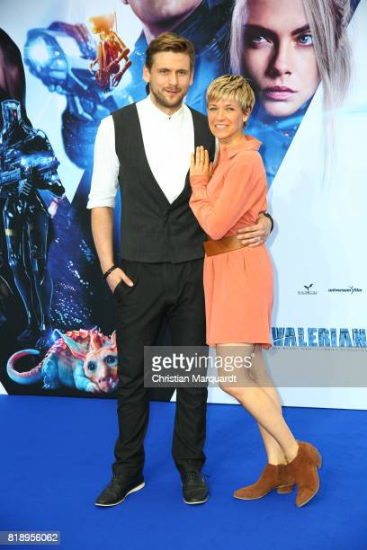 Steve Windolf and Kerstin Landsmann attend the German premiere of the 'Valerian Die Stadt der Tausend Planeten' at CineStar on July 19 2017 in Berlin...