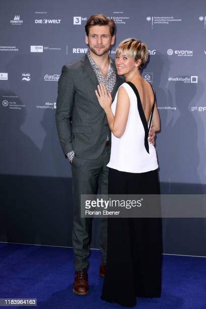 Steve Windolf and Kerstin Landsmann attend the German Sustainability Award at Maritim Hotel on November 22 2019 in Duesseldorf Germany