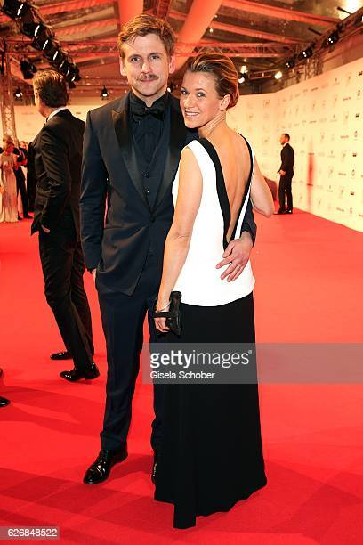 Steve Windolf and Kerstin Landsmann during the Bambi Awards 2016 arrivals at Stage Theater on November 17 2016 in Berlin Germany