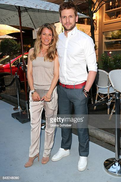 Steve Windolf and Kerstin Landsmann during the Peugeot BVC Casting Night during the Munich Film Festival 2016 at Kaeferschaenke on June 26 2016 in...