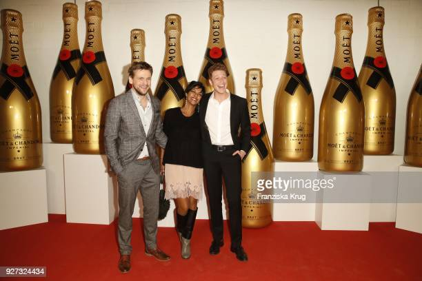 Steve Windolf Dennenesch Zoude and Daniel Donskoy during the Moet Academy Night on March 4 2018 in Berlin Germany