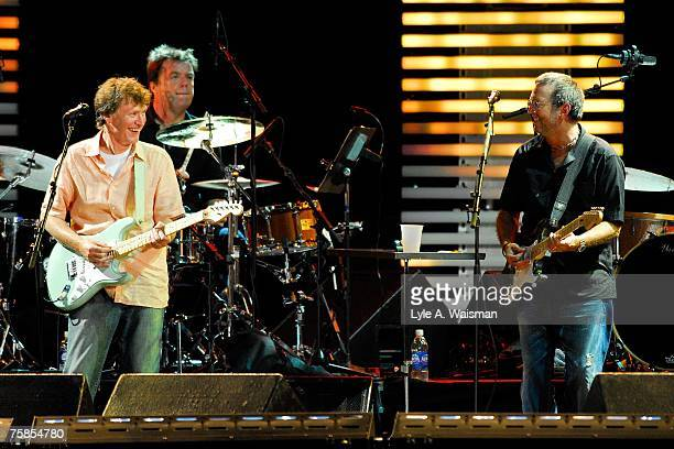 Steve Winwood and Eric Clapton perform at Eric Clapton's Crossroads Guitar Festival 2007 to benefit the Crossroads Centre in Antigua July 28 2007 in...