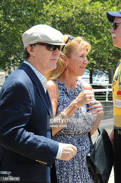 Steve Winwood and Eugenia Winwood attend the Music City Walk of Fame Induction of Steve Winwood and Bob Babbitt at Walk of Fame Park on June 5 2012...