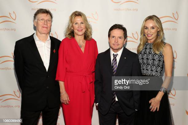 Steve Winwood Eugenia Winwood Michael J Fox and Tracy Pollan on the red carpet of A Funny Thing Happened On The Way To Cure Parkinson's benefitting...