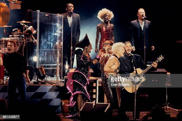 Steve Winwood Patti LaBelle Phil Collins and Billy Idol join The Who for a performance of 'Tommy' at the Universal Amphitheater in Los Angeles...