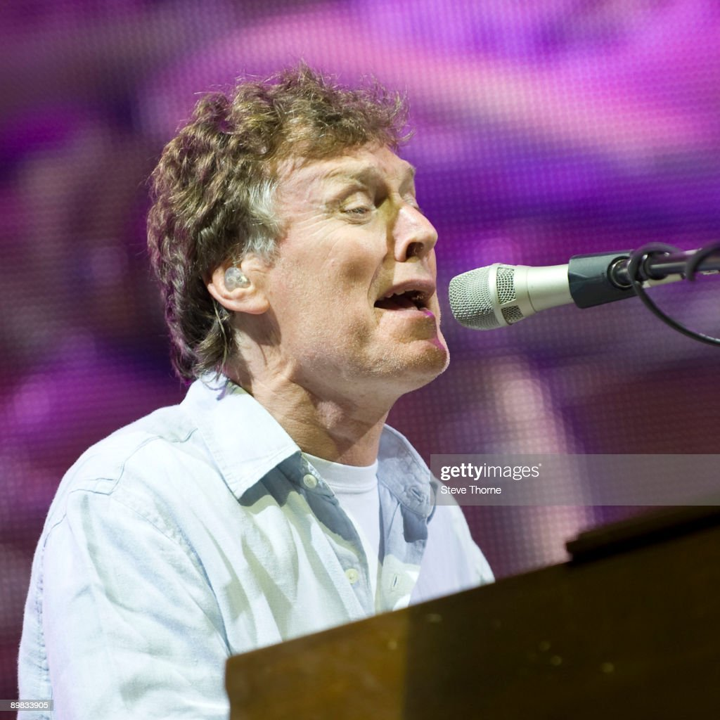 Steve Winwood performs on stage on day 1 of Fairport's Cropredy Convention at Cropredy on August 13, 2009 in Banbury, England.