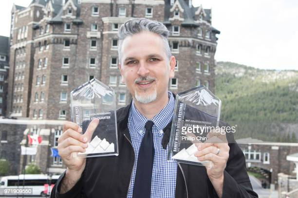 """Steve Woolf from OTT Video wins Best Digital Fiction Series for """"The 5th Quarter"""" and Best Animation Program for """"Dear Basketball"""" at the 2018 Rocky..."""