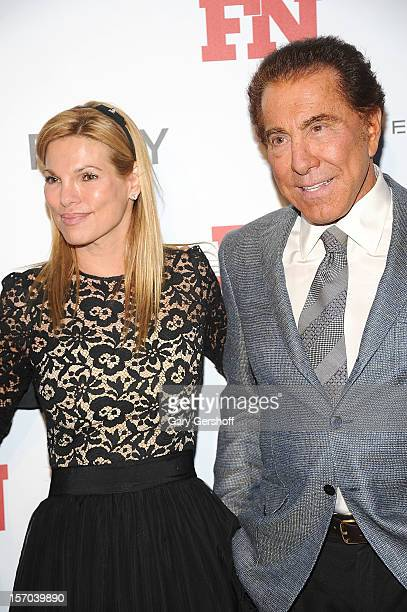 Steve Wynn and Andrea Hissom attend the 2012 Footwear News Achievement Awards at MOMA on November 27 2012 in New York City