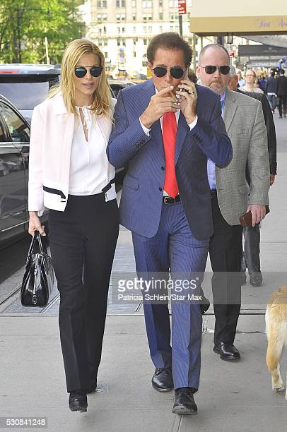 Steve Wynn and his wife Andrea Hissom are seen on May 11 2016 in New York City