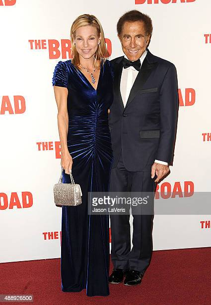 Steve Wynn and wife Andrea Hissom attend the Broad Museum black tie inaugural dinner at The Broad on September 17 2015 in Los Angeles California