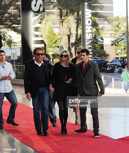 Steve Wynn Andrea Wynn and Nick Hissom during the TOPSHOP TOPMAN Las Vegas Grand Opening at Fashion Show Mall on March 8 2012 in Las Vegas Nevada