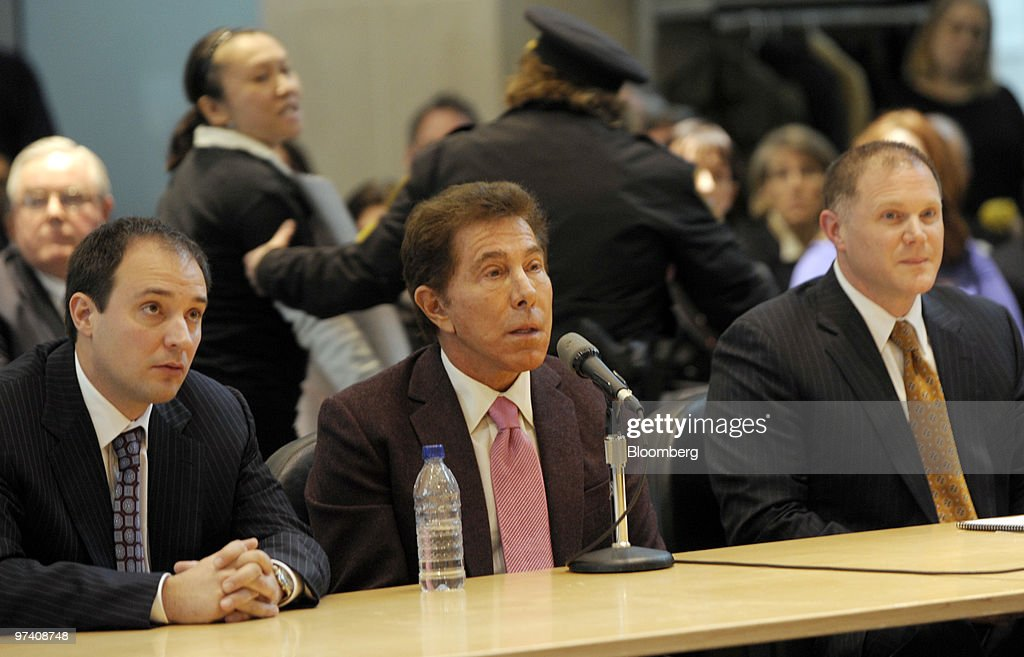Wynn Resorts Chairman Steve Wynn Testifies At Casino Commission Hearinge : News Photo