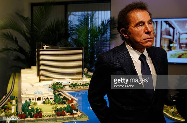 Steve Wynn speaks to reporters about a planned casino in Everett during a press conference in Medford Mass on March 15 2016
