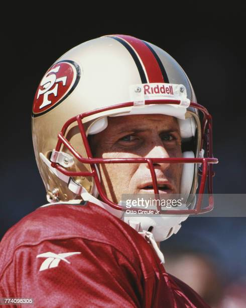 Steve Young Quarterback for the San Francisco 49ers during the National Football Conference West game against the New York Jets on 6 September 1998...