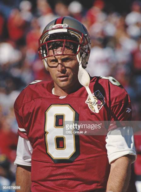 Steve Young, Quarterback for the San Francisco 49ers during the National Football Conference West game against the Cincinnati Bengals on 20 October...