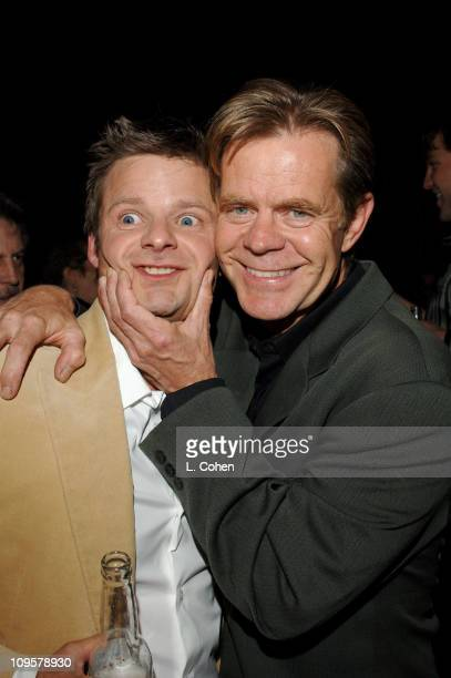 """Steve Zahn and William H. Macy during """"Sahara"""" Los Angeles Premiere - After Party at Highlands in Los Angeles, California, United States."""